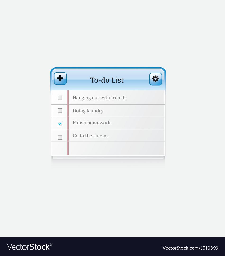 List icon vector | Price: 1 Credit (USD $1)