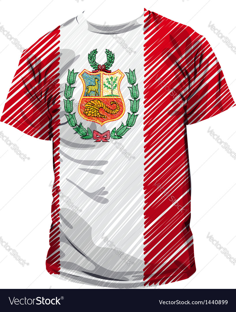 Peruvian tee vector | Price: 1 Credit (USD $1)