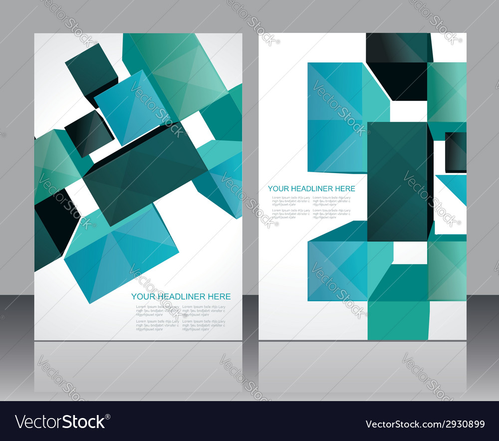 Set banners with 3d cubes background vector | Price: 1 Credit (USD $1)