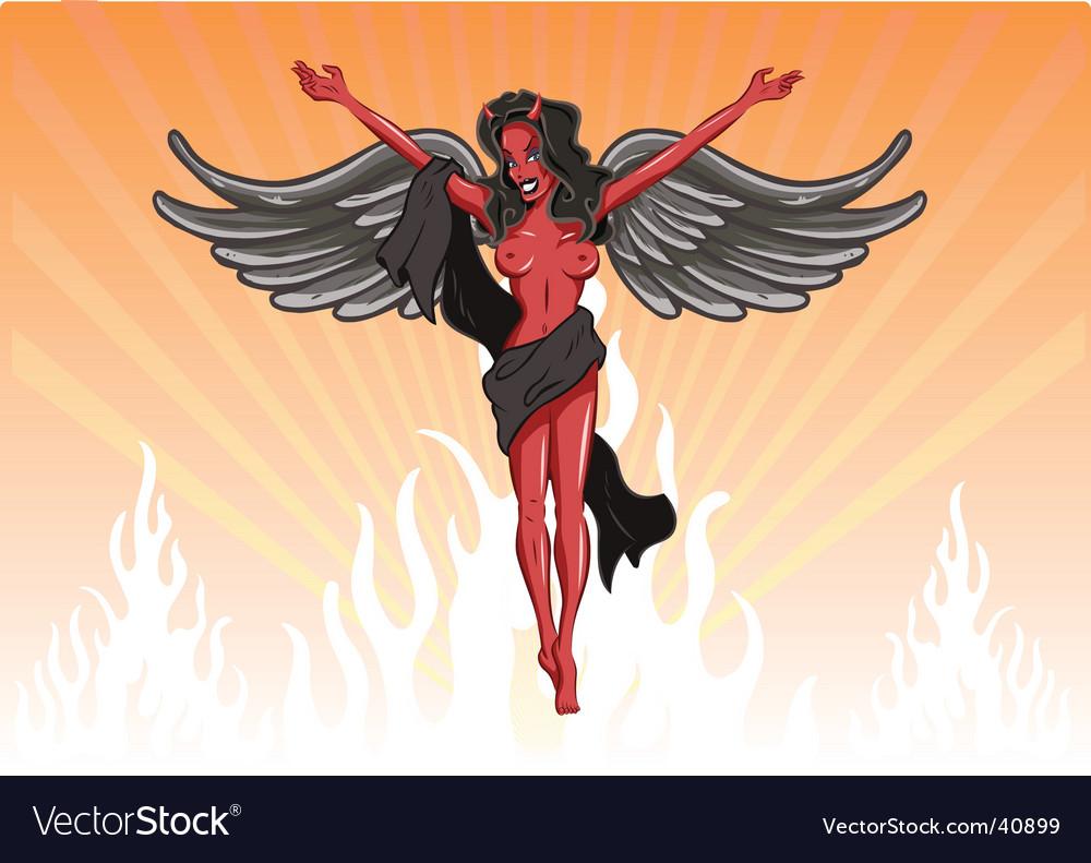 Sexy female devil illustration vector | Price: 1 Credit (USD $1)