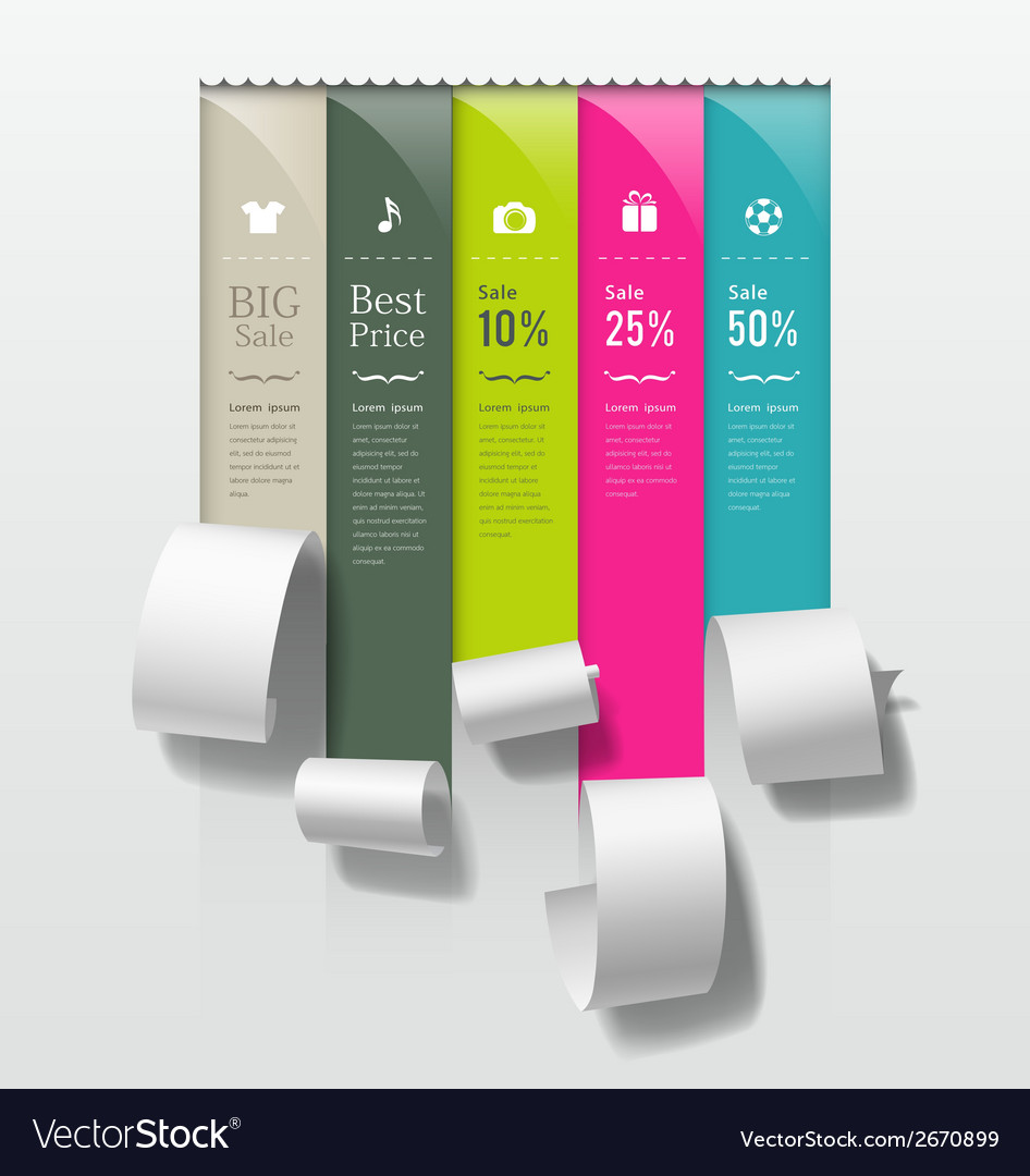 Show colorful paper roll promotional products vector | Price: 1 Credit (USD $1)