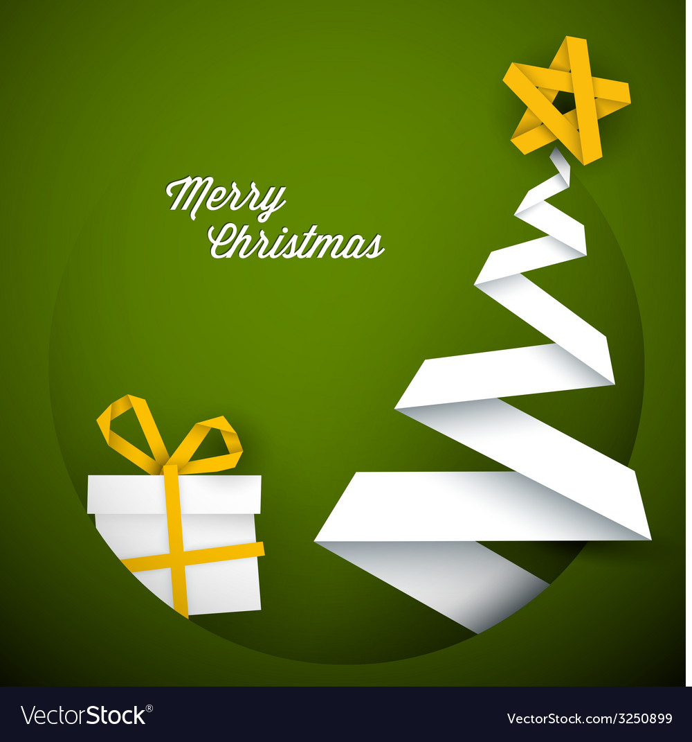 Simple green christmas card vector   Price: 1 Credit (USD $1)
