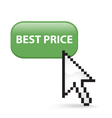 Best price button click vector