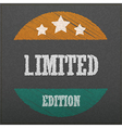 Empty realistic black board limited edition abstra vector