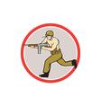 World war two soldier american tommy gun vector