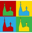 Pop art orthodox church icons vector