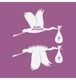 Storks set vector