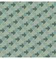 Vintage geometric arrows pattern vector