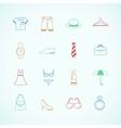 Clothes accessories pictograms vector