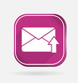 Postal envelope color square icon vector