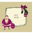 Vintage metal sign - merry christmas vector