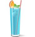Blue lagoon cocktail vector