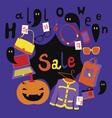 Halloween market print vector