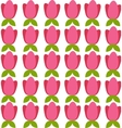 Background with colored tulips vector