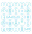 Line circle health care medical icons set vector