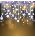 Shiny background with christmas decoration vector