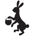 Bunny silhouette vector