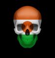 Nigerien flag skull vector