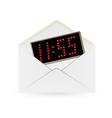 White envelope and digital watch vector