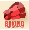 Flat sport boxing background concept flat s vector