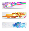 Abstract trendy banner or header set vector