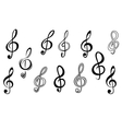 Music note keys vector