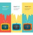 Retro tv option banner flat design vector
