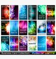 Business card glow backgrounds vector
