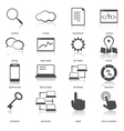 Search engine optimization icons set vector