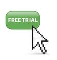 Free trial button click vector