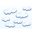 Clouds on white background vector