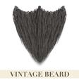 Realistic black beard vector
