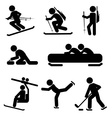 Winter sport icon set vector
