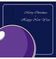 Stylized violet christmas ball with white shadow vector