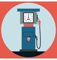 Fuel station pump vector
