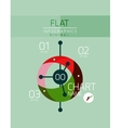 Flat design infographics concept vector