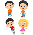 Happy children cartoon vector