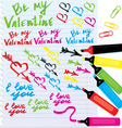 Different colors markers vector
