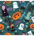 Happy halloween seamless pattern vector
