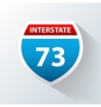 Interstate icon vector