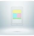 Pad icon in light studio room vector