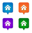 Home icon 4 options vector