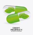 Green pharmacy design vector
