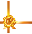 Golden ribbon and bow vector