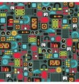 Cartoon machines seamless background vector