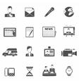 News icons black vector