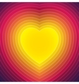 Colorful paper layers heart shape vector