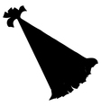 Silhouette of birthday hat vector