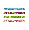 Ribbons with a colorful background vector