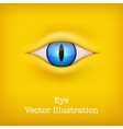 Yellow background with animal eye vector